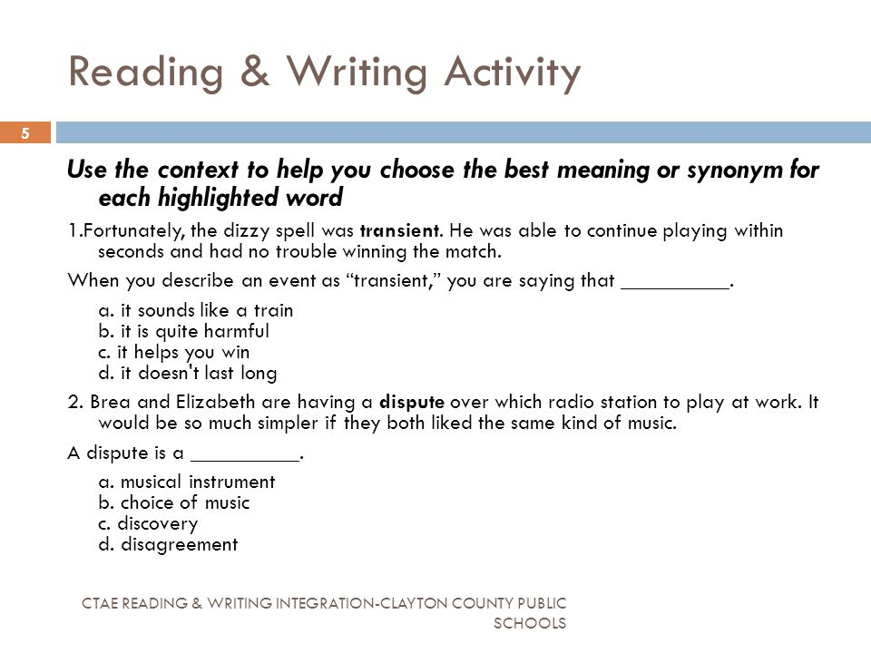 reading helps writing