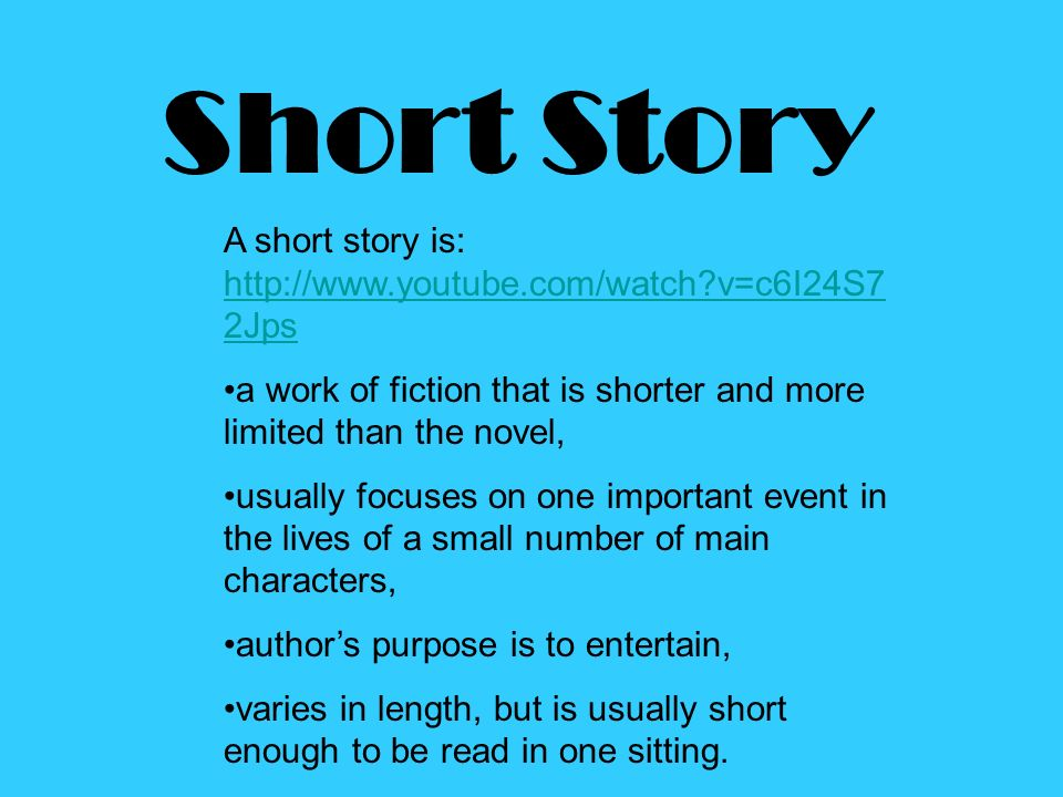 short story analysis essay conclusion Short story analysis in this essay, your purpose is to fully explain an element (theme, characterization or symbolism) in a short story of your choice.