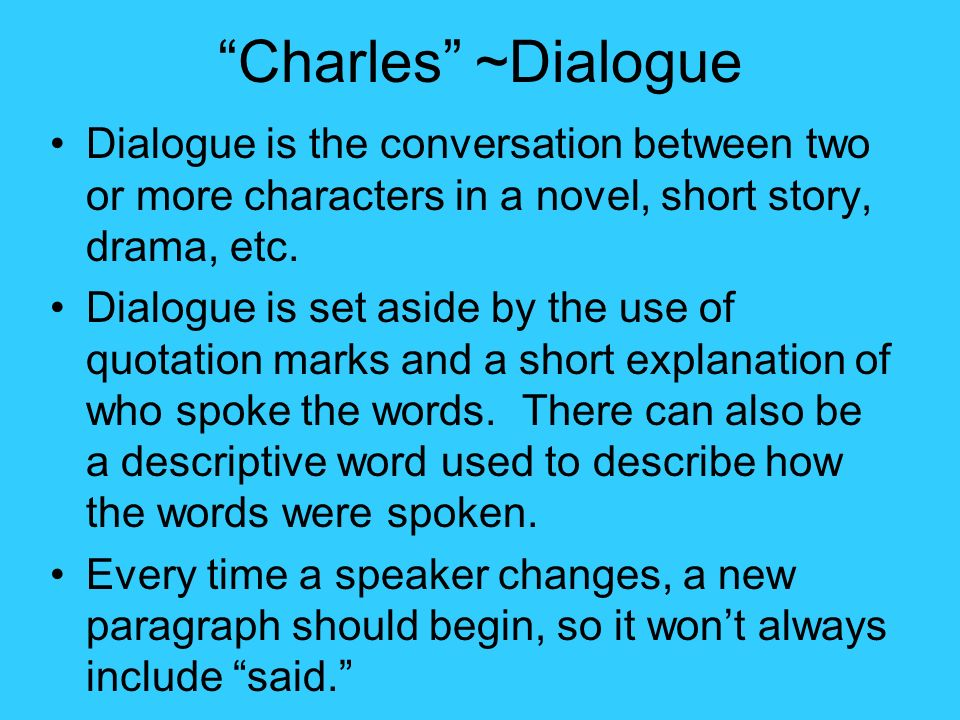 how to include dialogue in a story