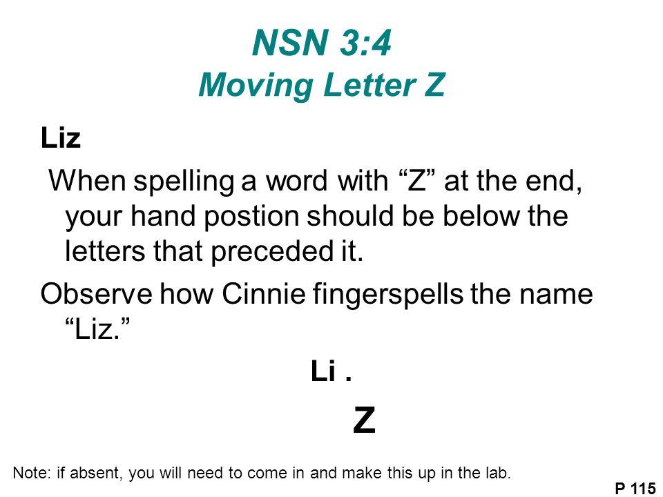 z letter name