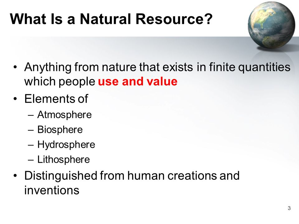 What Is a Natural Resource