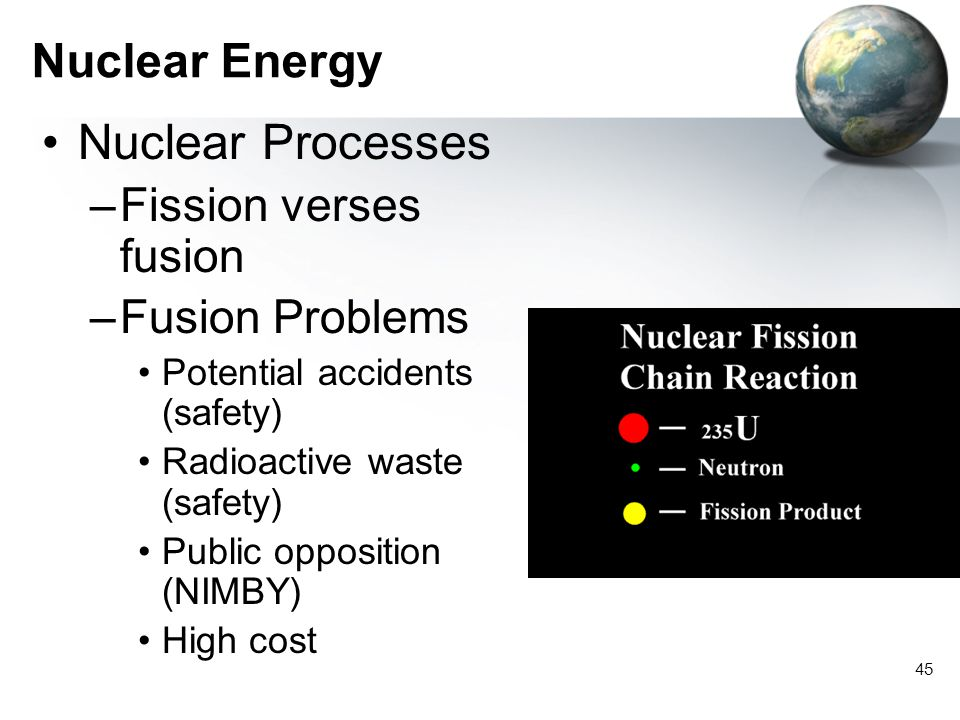 Nuclear Processes Nuclear Energy Fission verses fusion Fusion Problems
