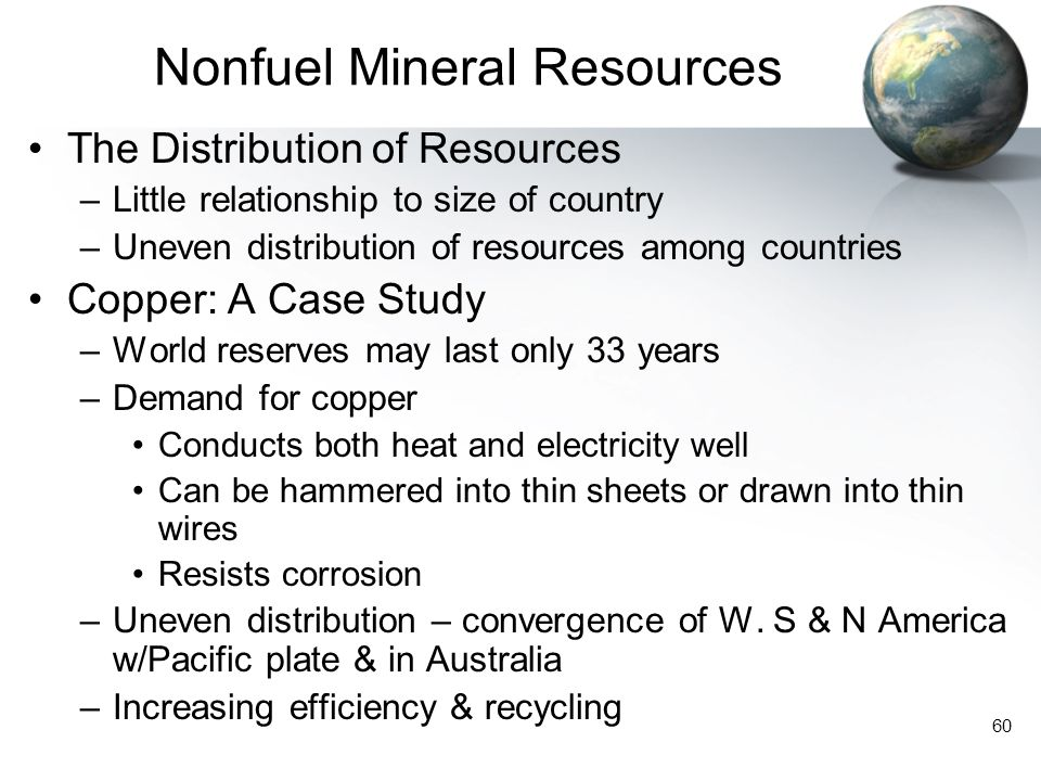 Nonfuel Mineral Resources