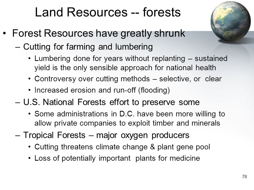 Land Resources -- forests