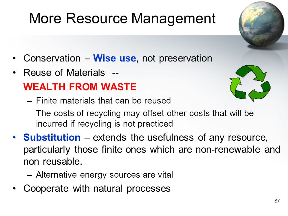 More Resource Management
