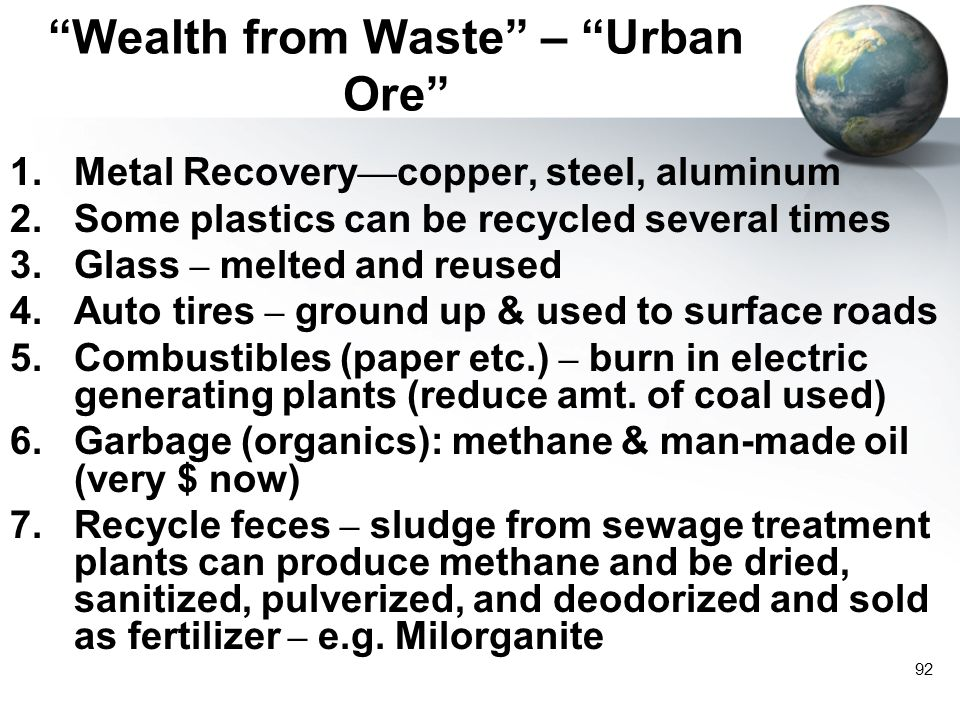 Wealth from Waste – Urban Ore