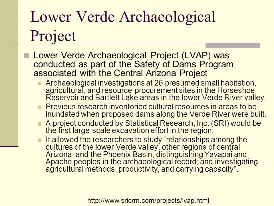 Lower Verde Archaeological Project