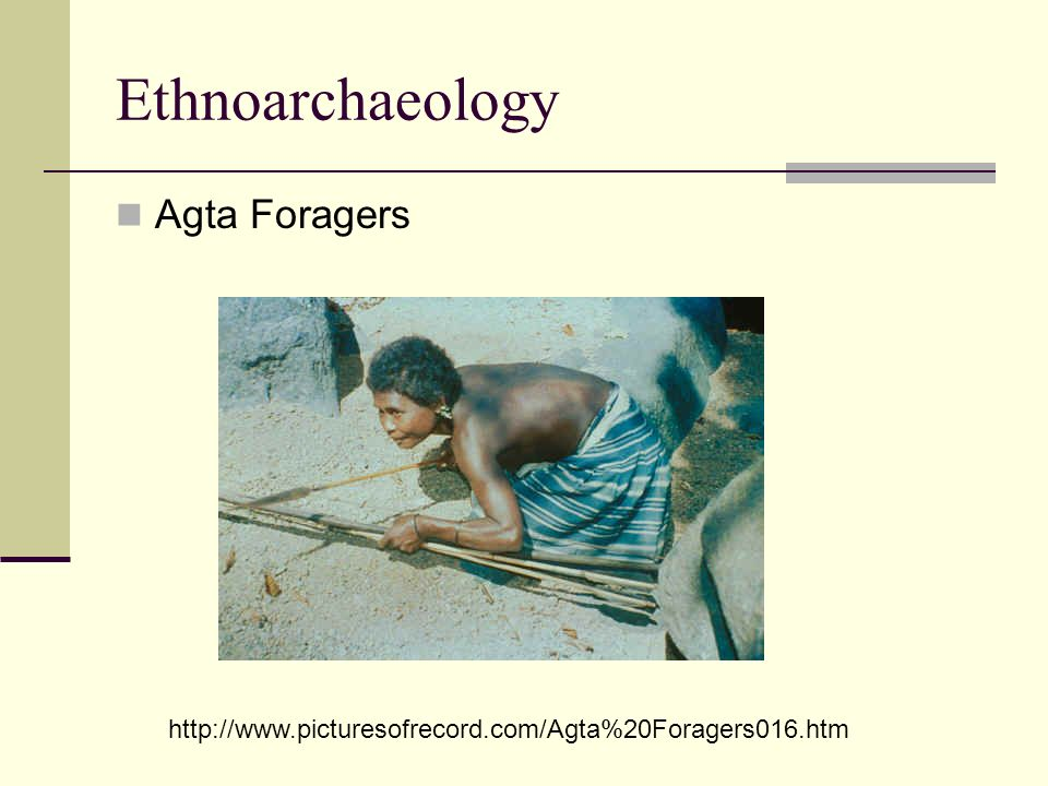 Ethnoarchaeology Agta Foragers