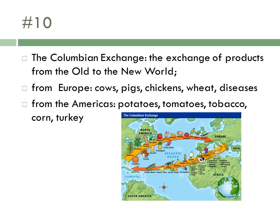 tobacco in the columbian exchange The columbian exchange  the indians taught europeans about tobacco, corn,  potatoes, and varieties of beans, peanuts, tomatoes, and other crops unknown.