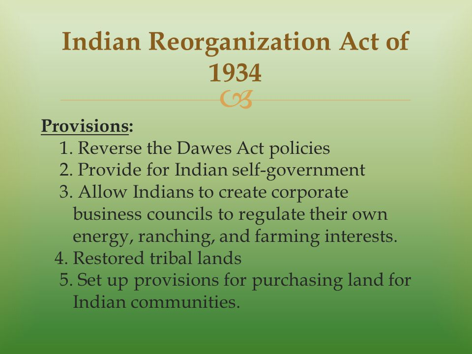 the indian reorganization act and southwest Indian reorganization act,  in the supreme court of the united states   federally-recognized indian tribe residing in southwest.