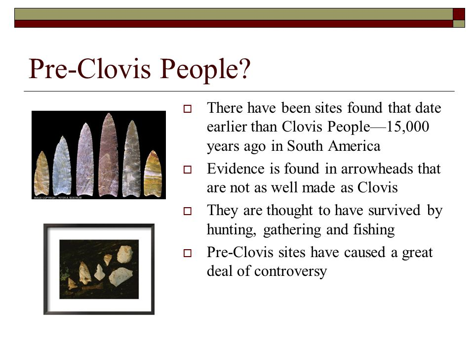 Guide to the Pre-Clovis Culture
