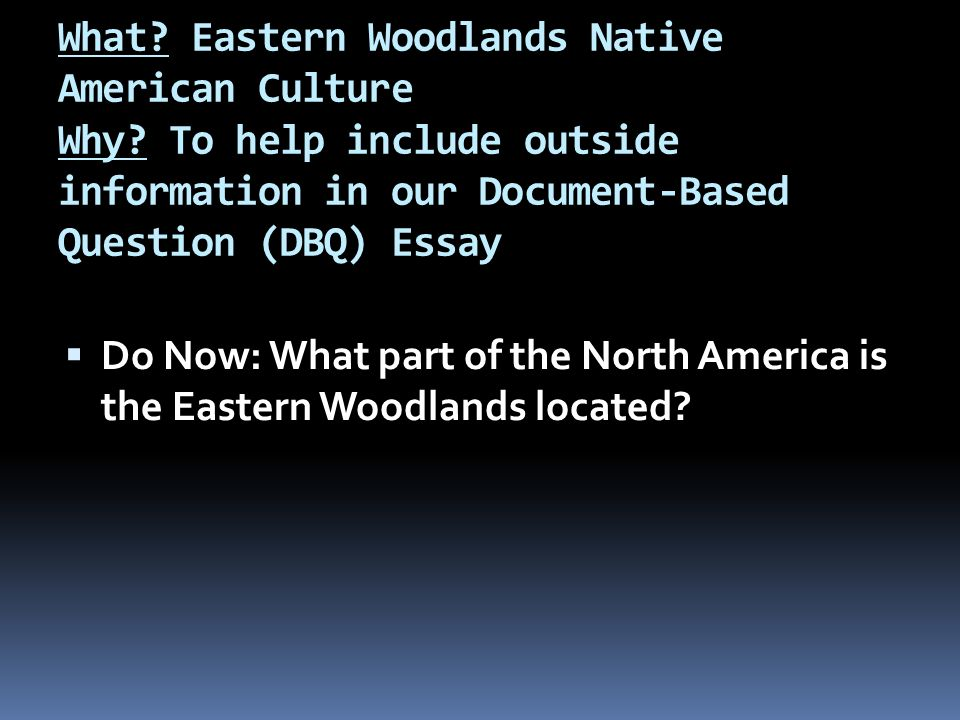 DBQ Native Americans in the United States Essay
