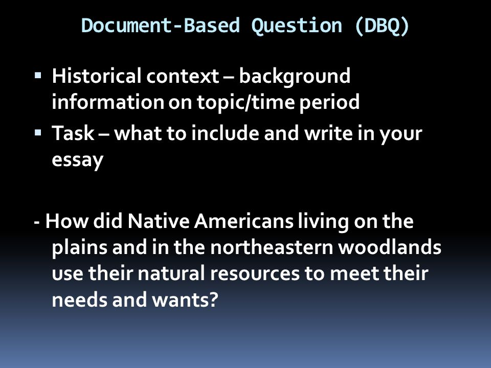 dbq questions