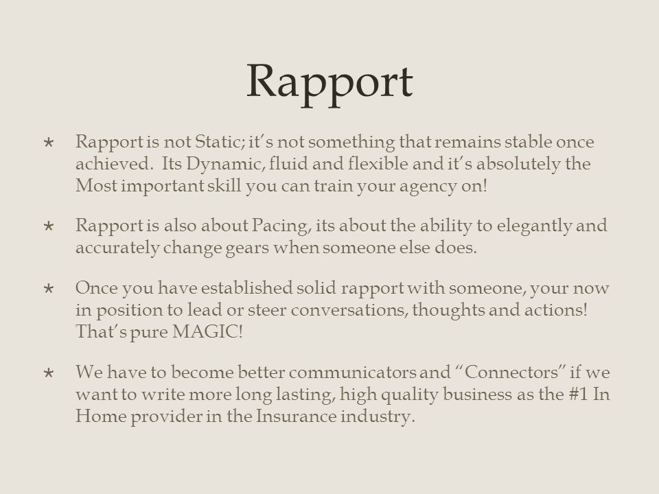 How to Build Rapport with Your Audience
