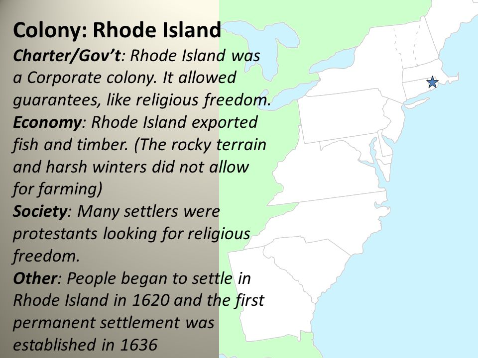 Date Rhode Island Became A Colony