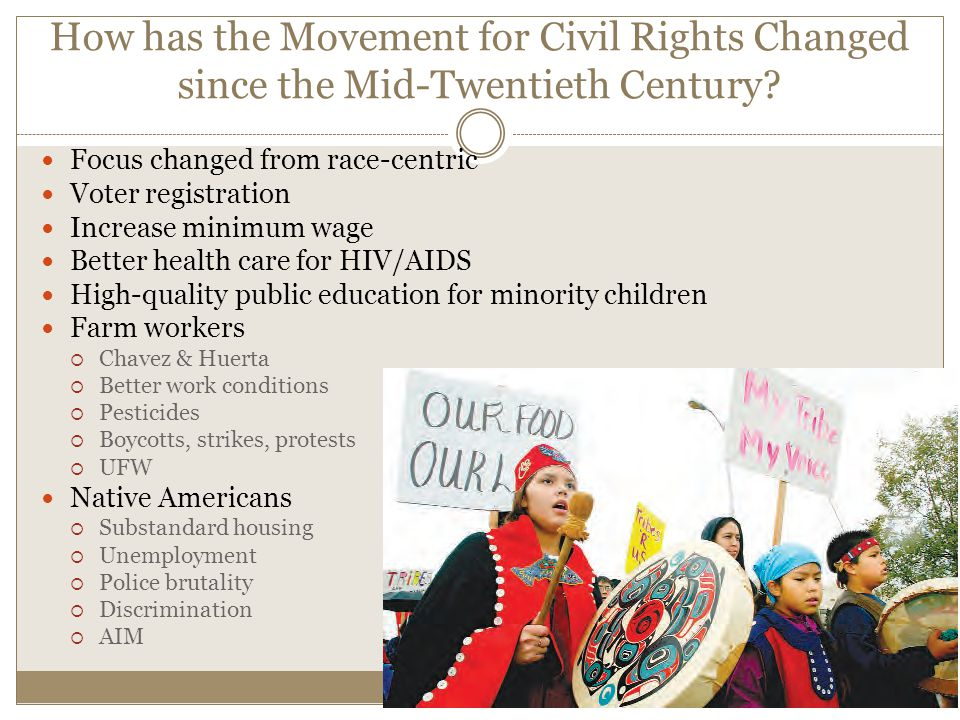 The civil rights movement in 20th
