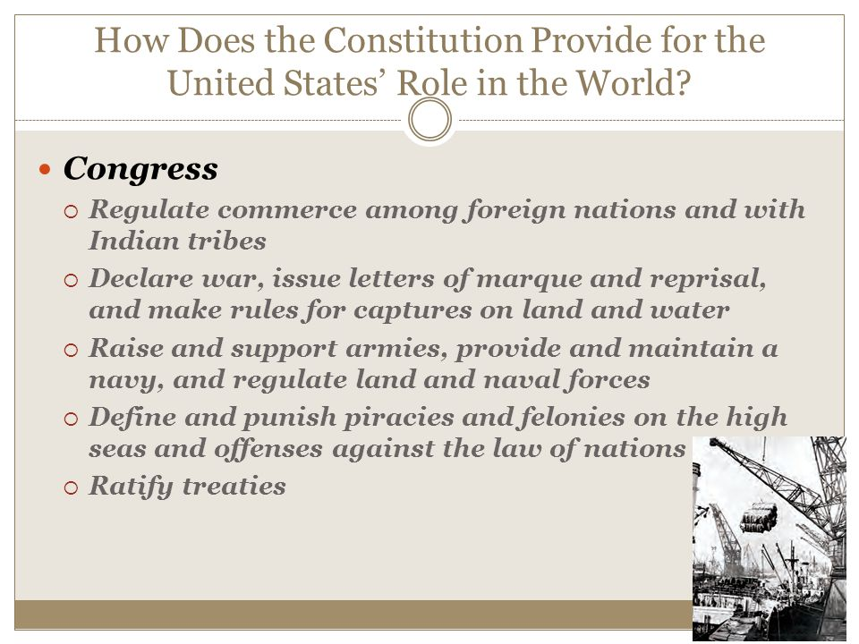 Role of the u s constitution in