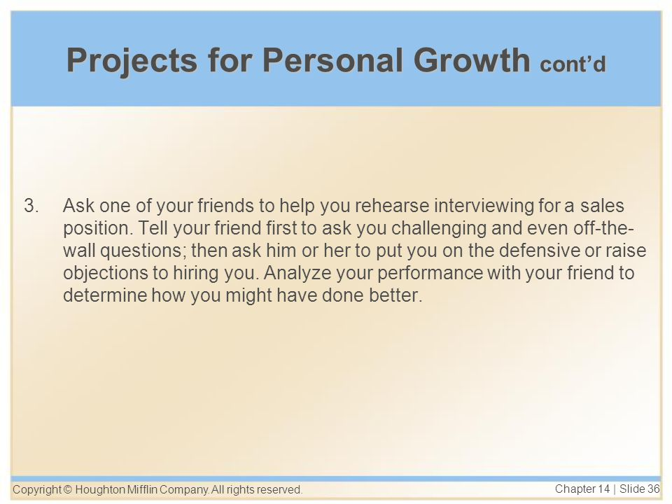 Chapter 14 starting your personal selling career ppt download 36 projects ccuart Gallery