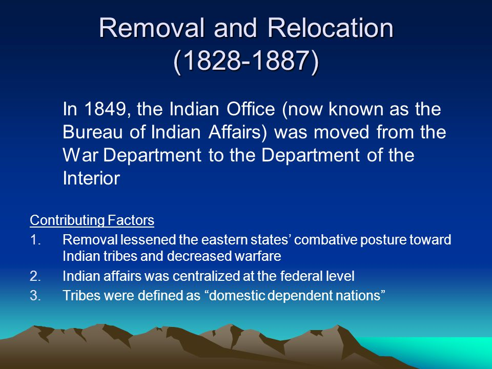 Tribal relations with the united states ppt download - United states department of the interior bureau of indian affairs ...