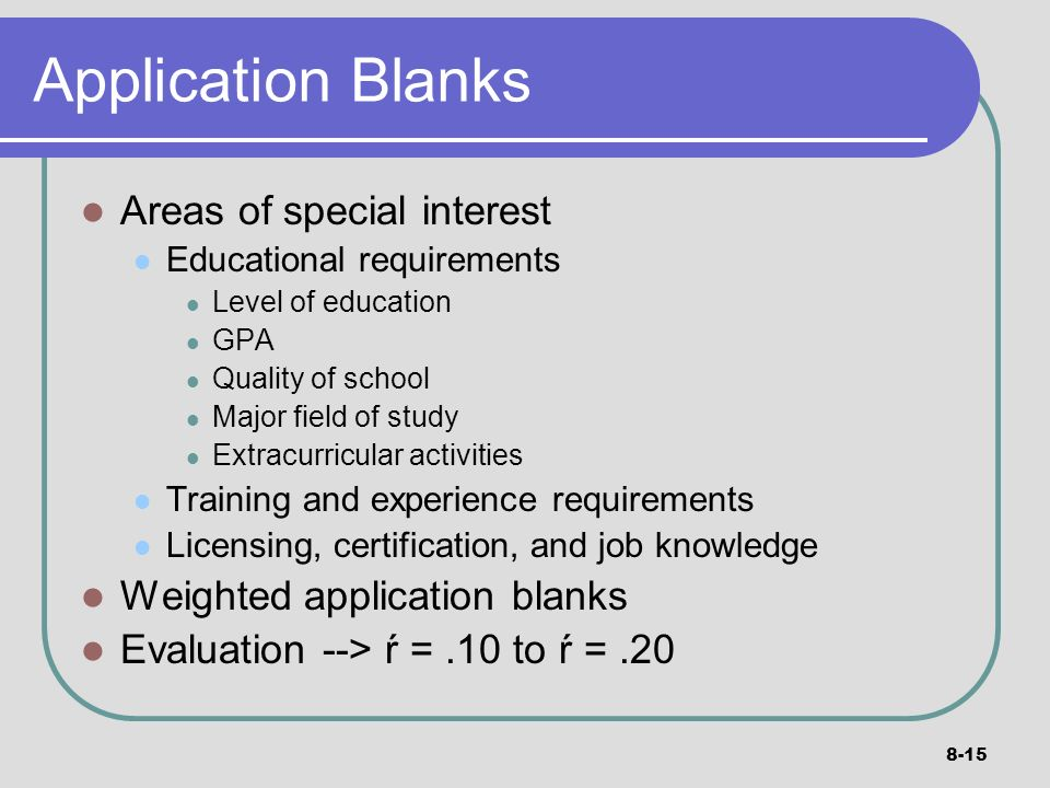 Part 4 Staffing Activities: Selection - ppt video online download