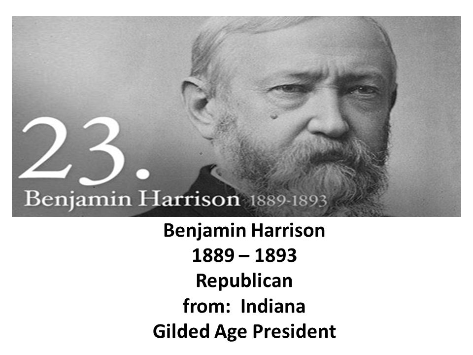 benjamin harrison closing of the frontier and the turner thesis The election of 1888 major items during harrison's presidency states admitted to the union during his presidency closing of the frontier and the turner thesis.