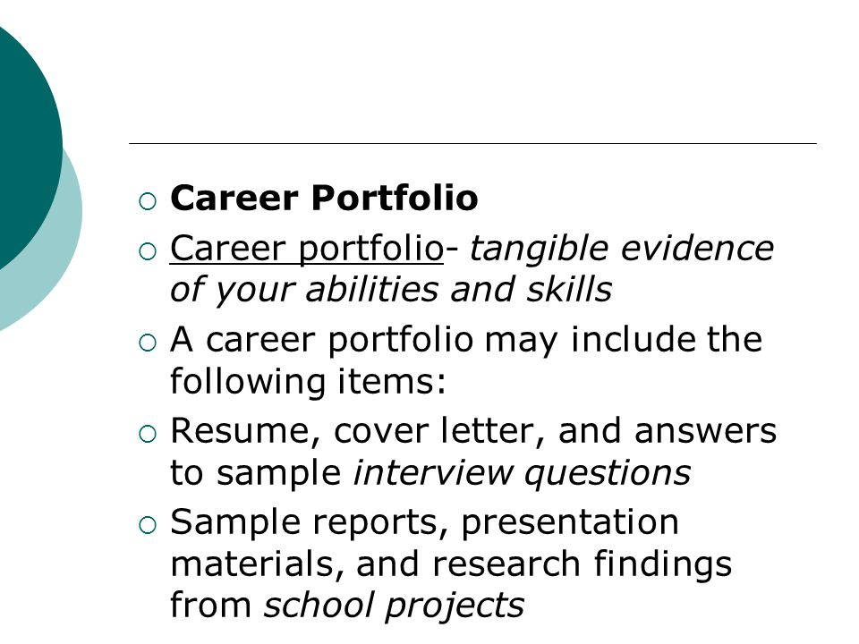 chapter 9 career planning