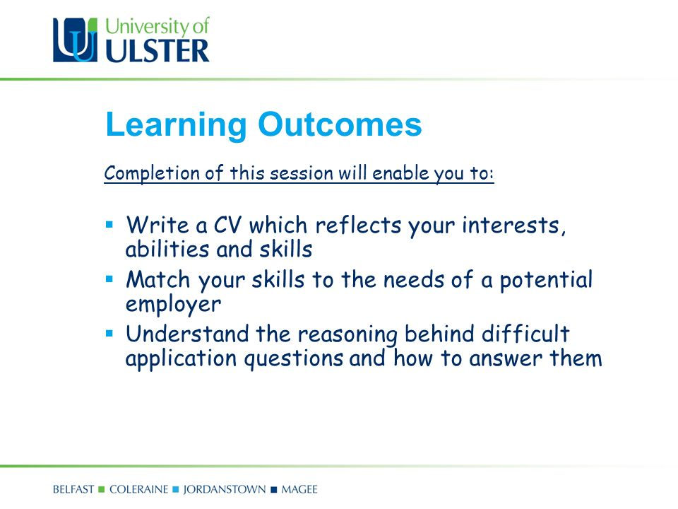 Com 4171m mairead mcfadden ppt video online download learning outcomes completion of this session will enable you to write a cv which reflects yelopaper Images