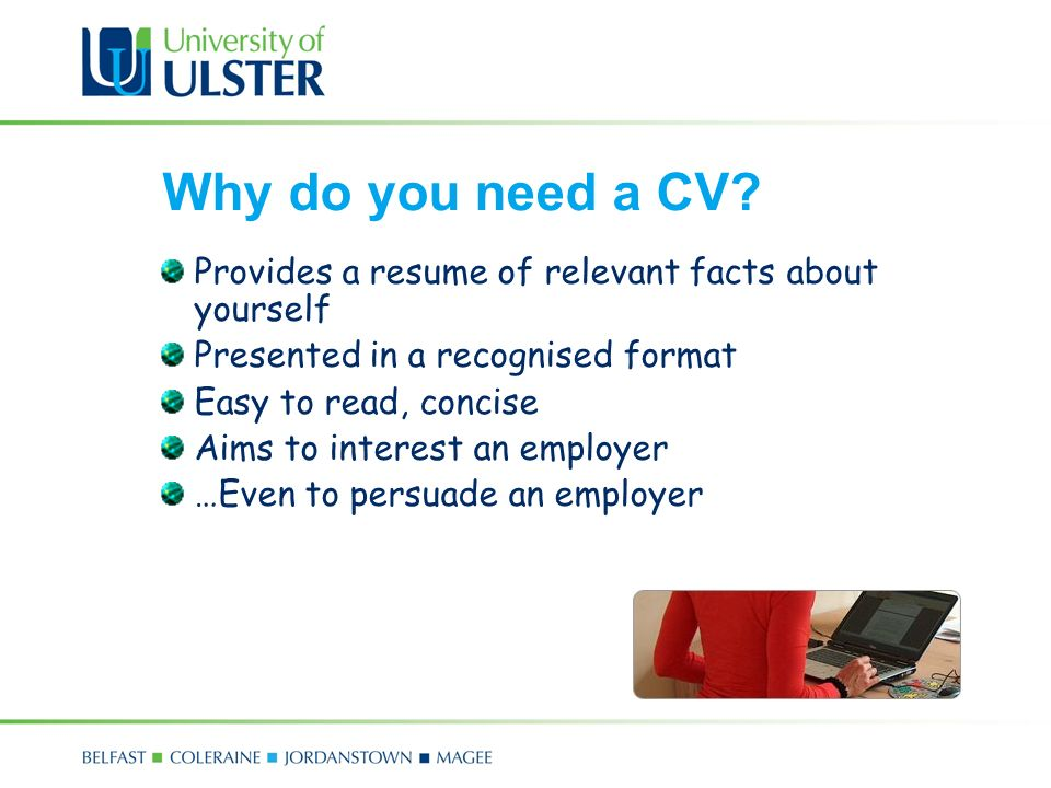 Com 4171m mairead mcfadden ppt video online download why do you need a cv provides a resume of relevant facts about yourself presented yelopaper Images
