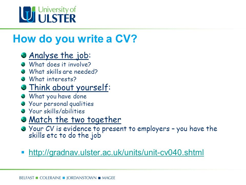 Com 4171m mairead mcfadden ppt video online download how do you write a cv analyse the job think about yourself yelopaper Images