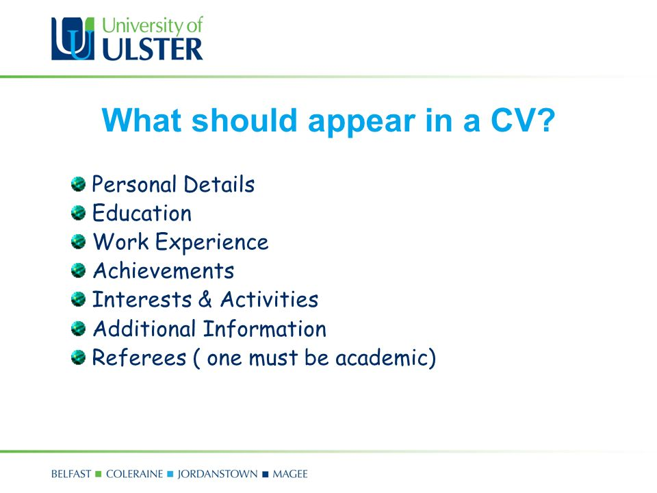 Com 4171m mairead mcfadden ppt video online download what should appear in a cv yelopaper Images