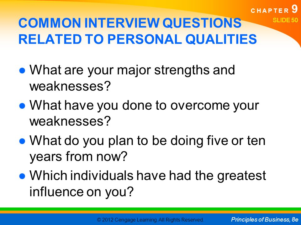 COMMON INTERVIEW QUESTIONS RELATED TO PERSONAL QUALITIES