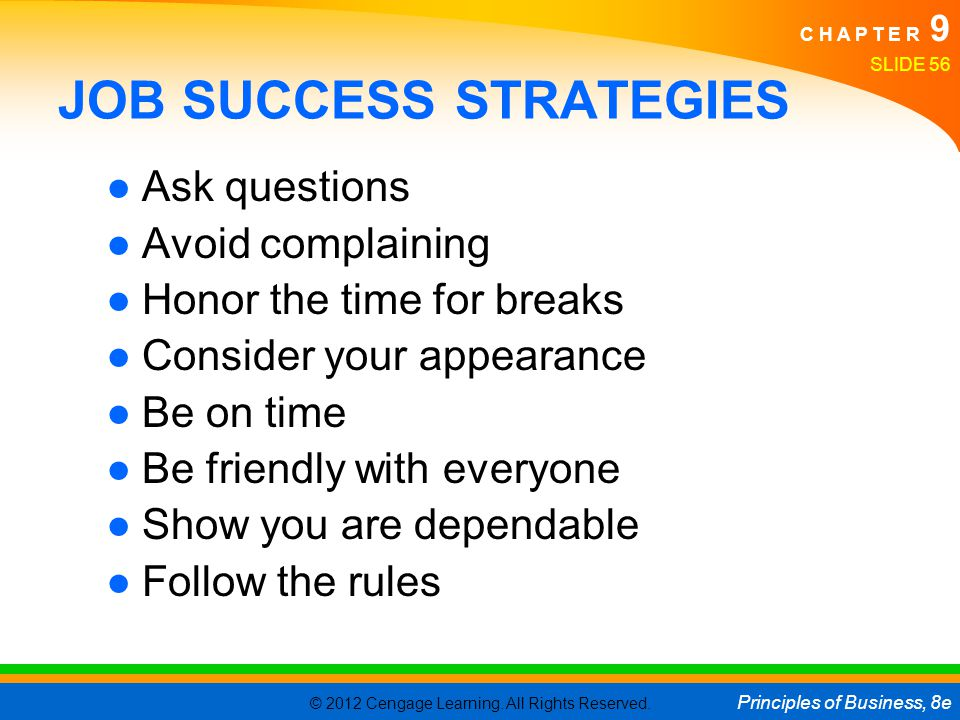 JOB SUCCESS STRATEGIES