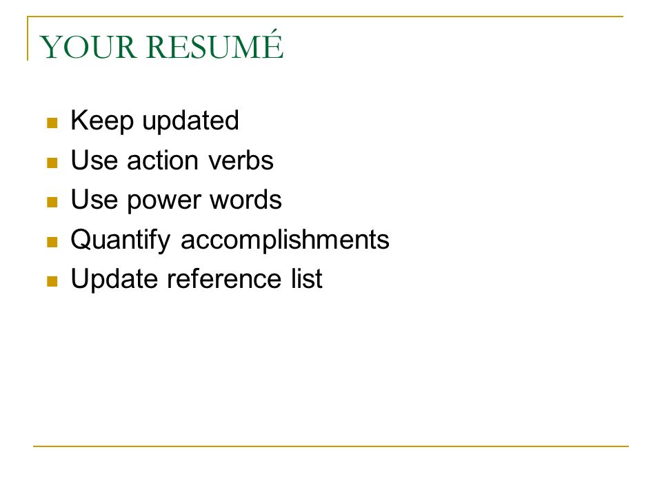 Powerful Words For Resume Fiveoutsiderscom