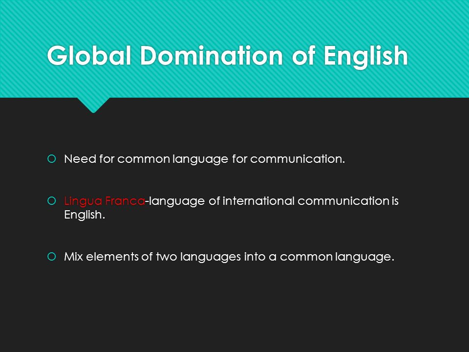 Domination of english