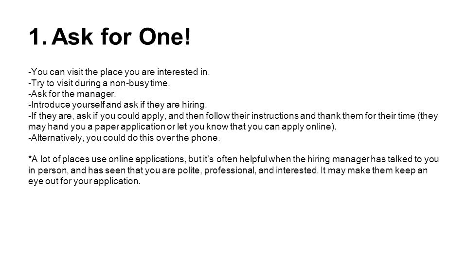 should i apply in person or online