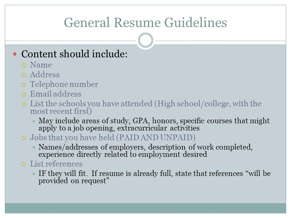Guidelines For What To Include In A Resume Harvard Extension