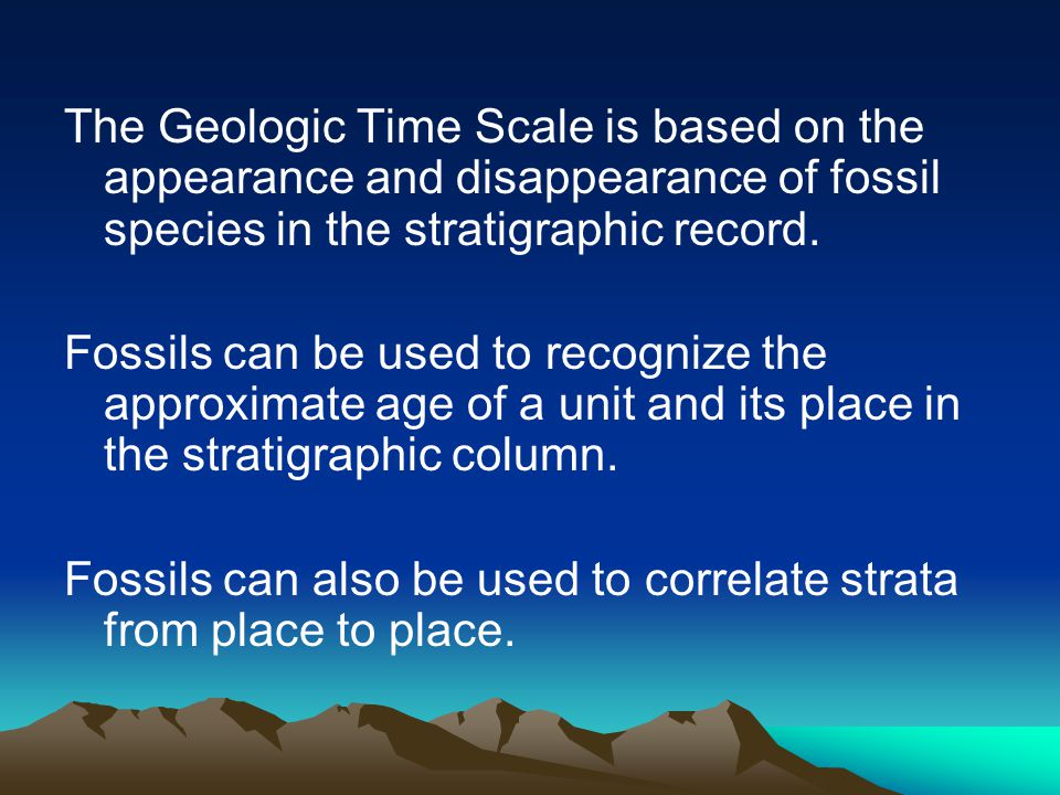 Chapter 17 FOSSILS AND STRATA Part 5