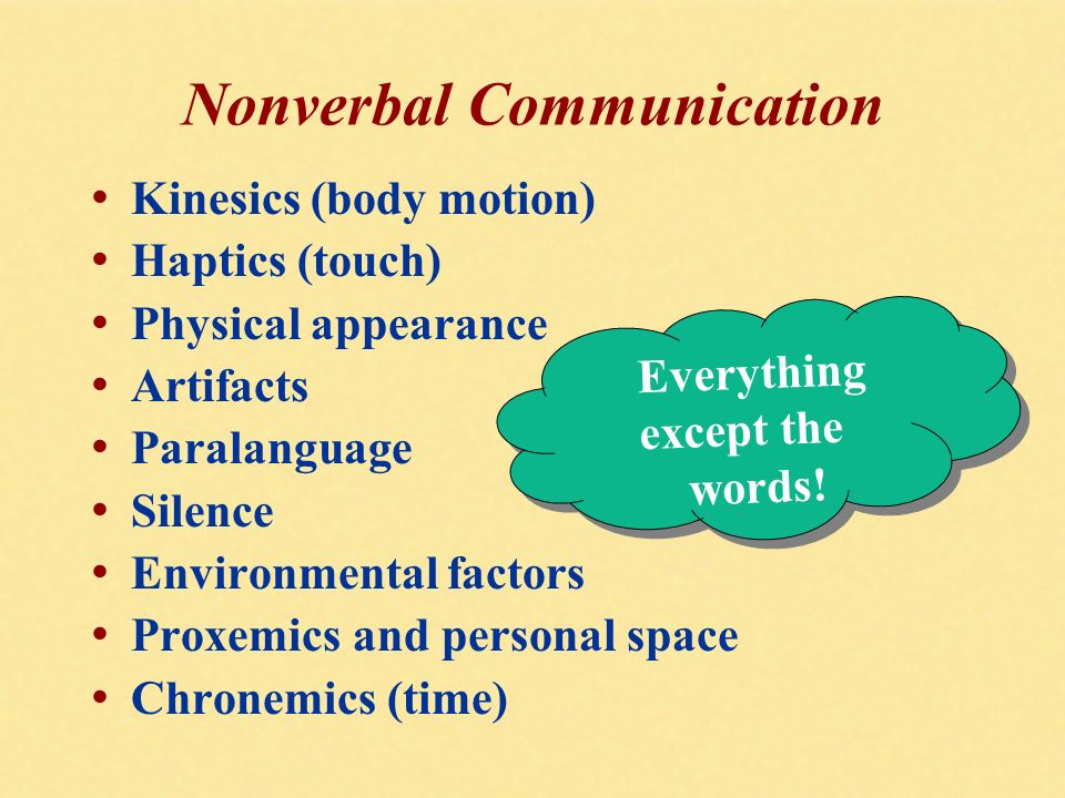 an analysis of nonverbal communications The three different types of communication are verbal, nonverbal and visual the two major forms of verbal communication are written (or typed) and oral the major.