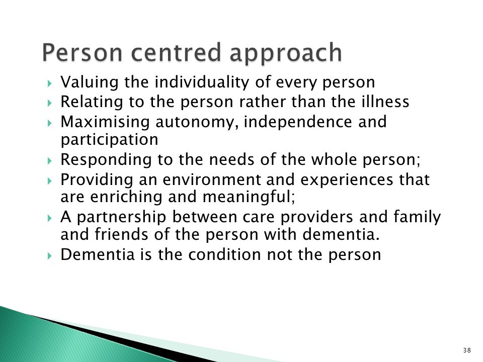 person centred approach Person-centered therapy, which is also known as client-centered, non-directive, or rogerian therapy, is an approach to counseling and psychotherapy that places much of the responsibility for the treatment process on the client, with the therapist taking a nondirective role.