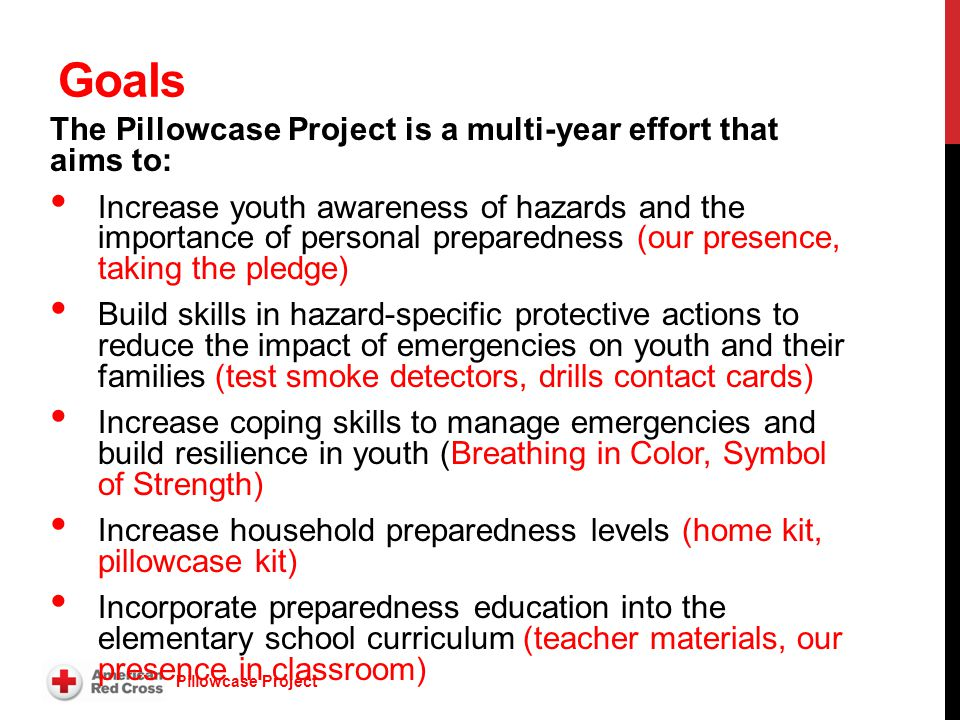 Welcome to the The Pillowcase Project Training for ...