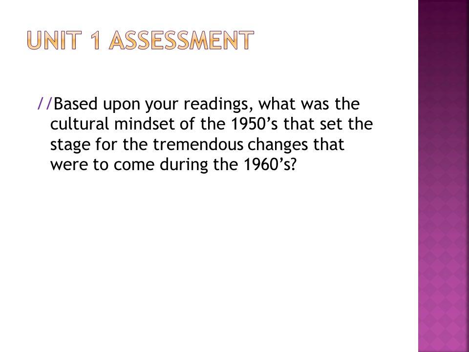 unit 1 assessment