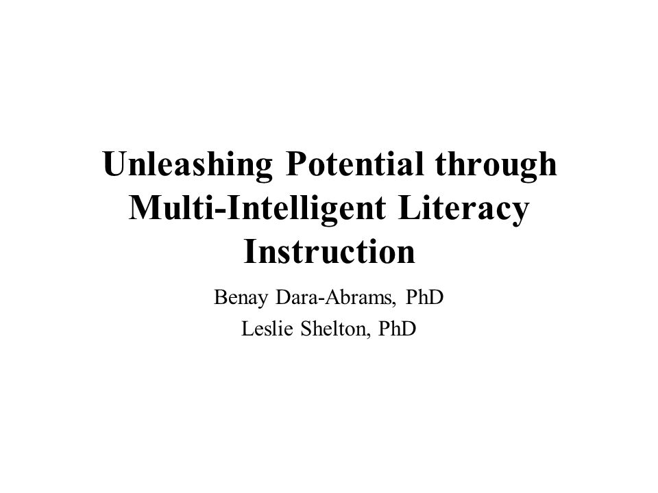 Unleashing Potential through Multi-Intelligent Literacy Instruction