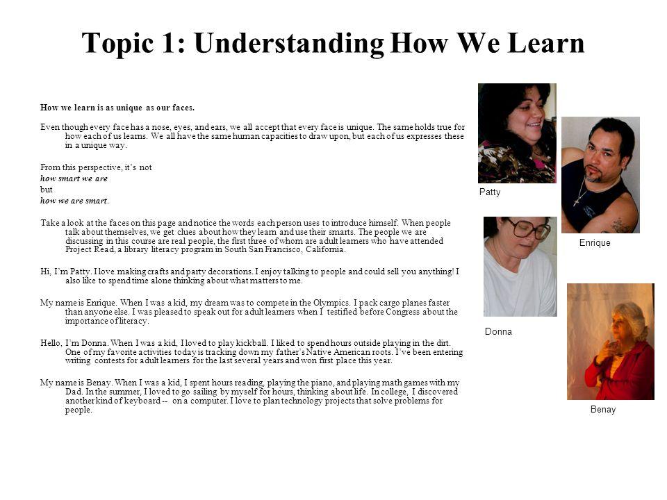 Topic 1: Understanding How We Learn