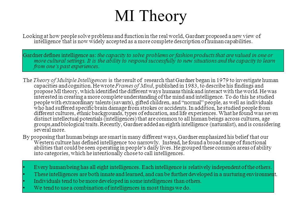 MI Theory