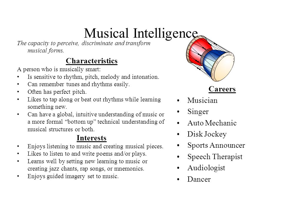 Musical Intelligence Characteristics Careers Musician Singer