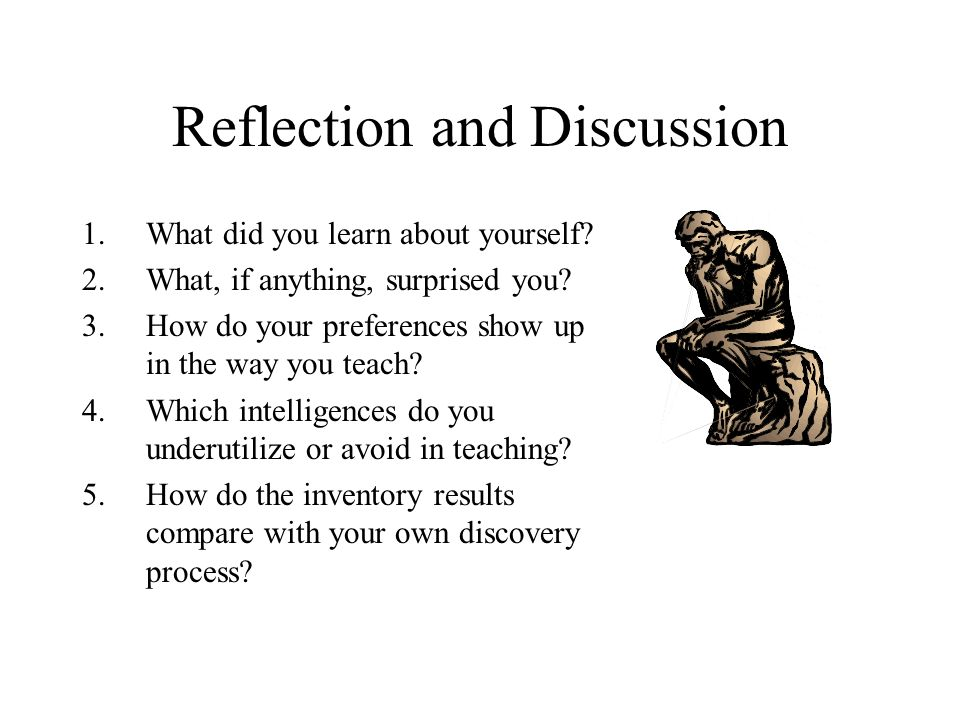 Reflection and Discussion
