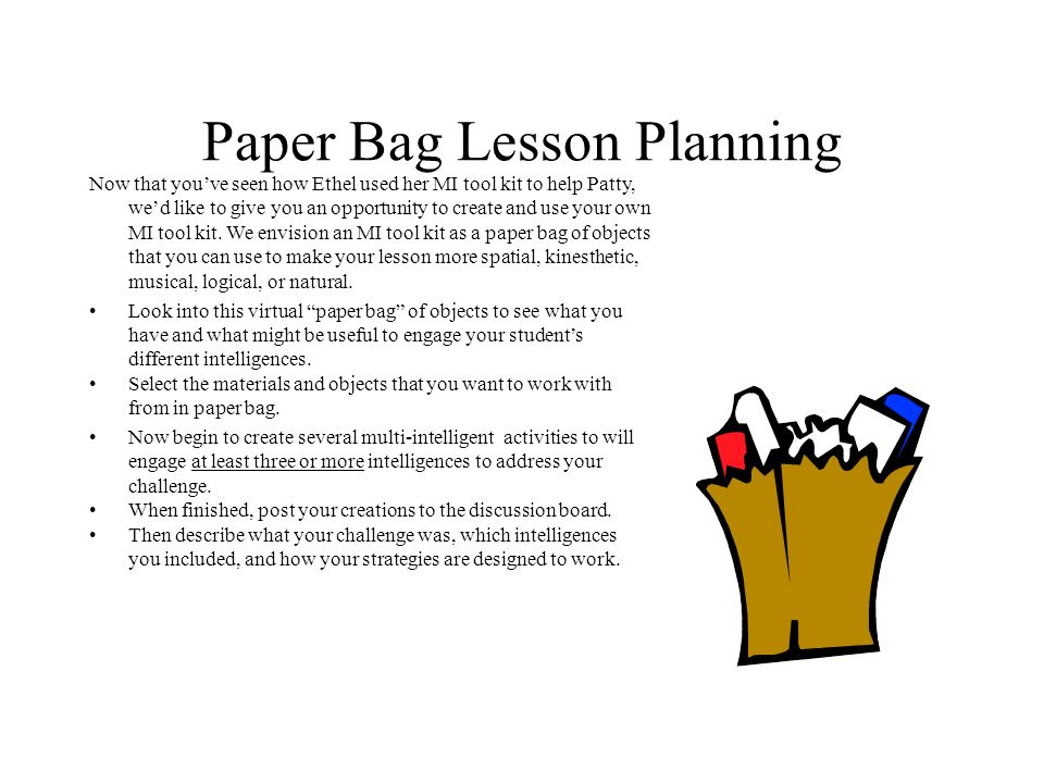 Paper Bag Lesson Planning