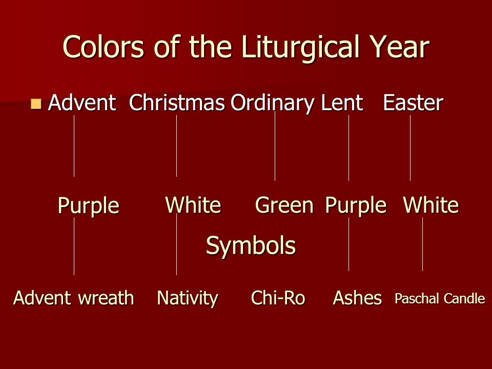 The Liturgical Year Ppt Video Online Download