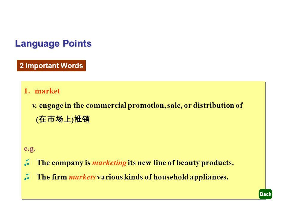 Language Points market