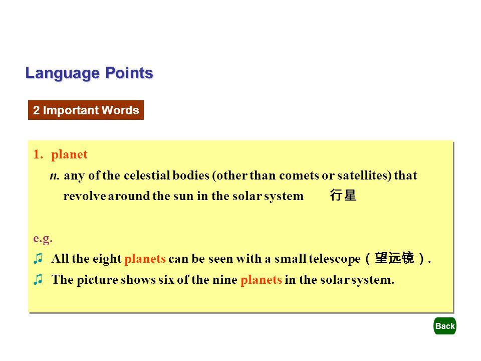 Language Points planet